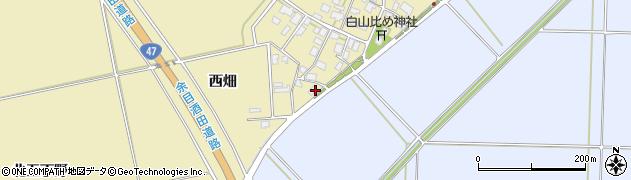 山形県酒田市小牧西畑42周辺の地図