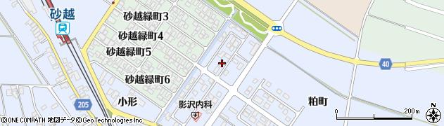 山形県酒田市砂越小形61周辺の地図
