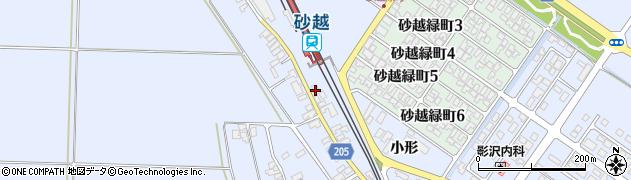 山形県酒田市砂越小形139周辺の地図