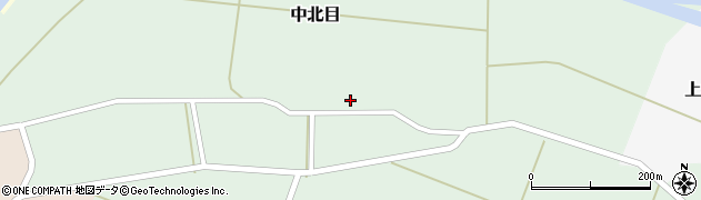 山形県酒田市中北目村立86周辺の地図