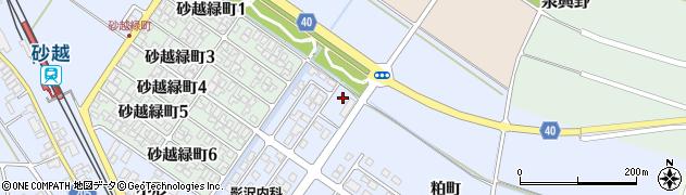 山形県酒田市砂越粕町59周辺の地図