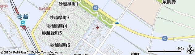 山形県酒田市砂越小形37周辺の地図
