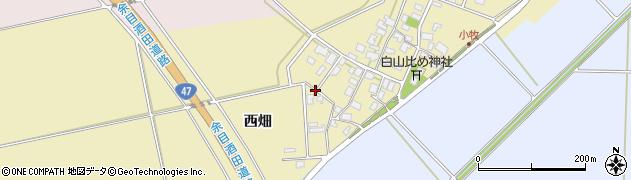 山形県酒田市小牧西畑18周辺の地図