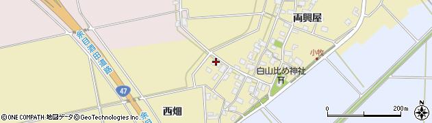山形県酒田市小牧81周辺の地図