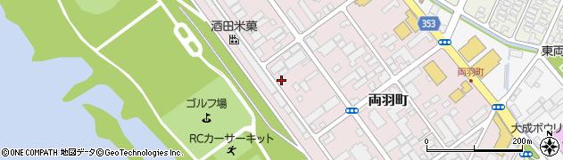 山形県酒田市両羽町4-11周辺の地図