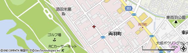 山形県酒田市両羽町4-5周辺の地図