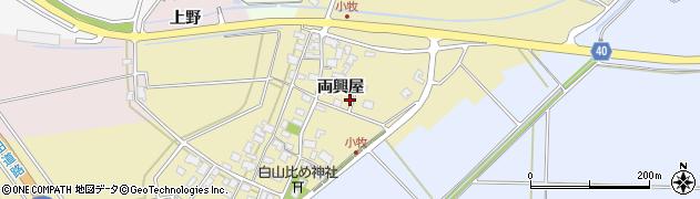 山形県酒田市小牧周辺の地図