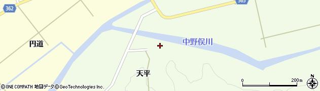 山形県酒田市中野俣天平周辺の地図
