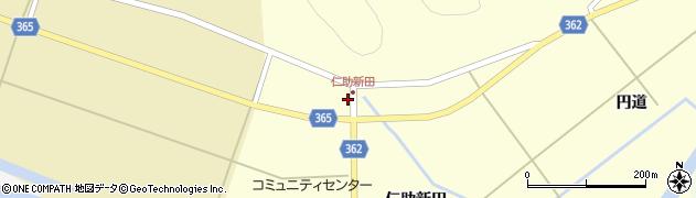 山形県酒田市北俣仁助新田52周辺の地図
