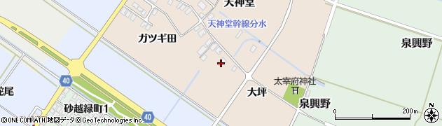 山形県酒田市天神堂3周辺の地図