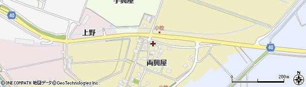 山形県酒田市小牧両興屋36周辺の地図