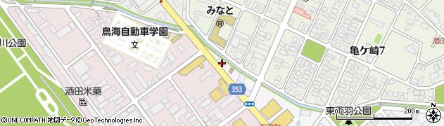 山形県酒田市東両羽町121周辺の地図