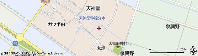 山形県酒田市天神堂大坪38周辺の地図
