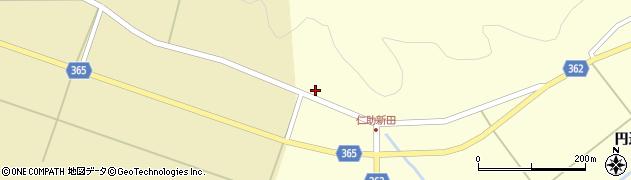 山形県酒田市北俣大畑山周辺の地図