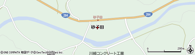 岩手県一関市川崎町薄衣(砂子田)周辺の地図