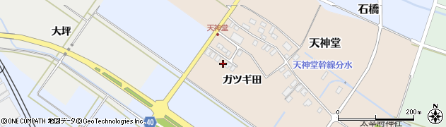 山形県酒田市天神堂ガツギ田周辺の地図