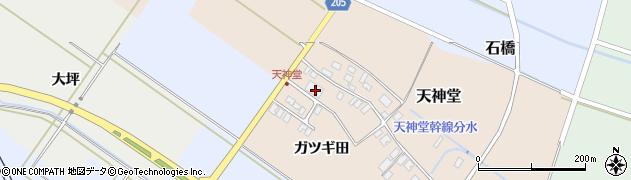 山形県酒田市天神堂周辺の地図