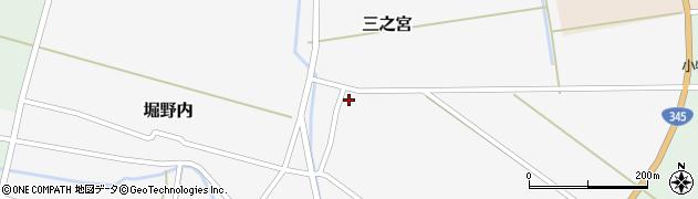 山形県酒田市三之宮周辺の地図