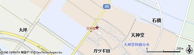 山形県酒田市天神堂21周辺の地図