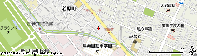山形県酒田市若原町4周辺の地図