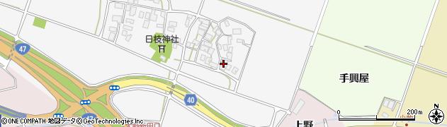 山形県酒田市大野新田村南24周辺の地図