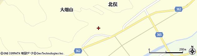 山形県酒田市北俣大畑山9周辺の地図