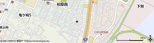 山形県酒田市松原南21周辺の地図