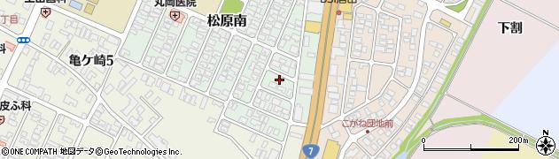 山形県酒田市松原南21-9周辺の地図