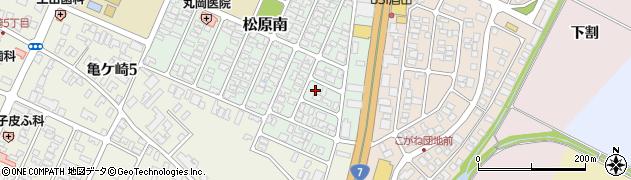山形県酒田市松原南周辺の地図