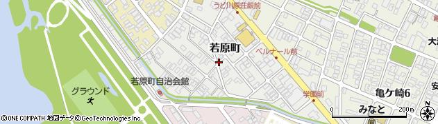 山形県酒田市若原町周辺の地図