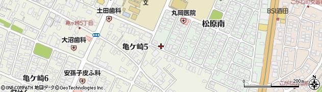 山形県酒田市松原南14-20周辺の地図