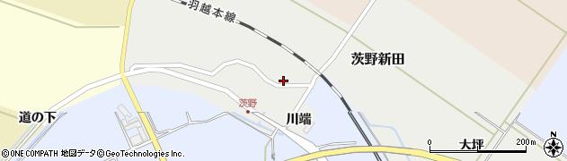 山形県酒田市茨野新田26周辺の地図