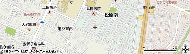 山形県酒田市松原南16周辺の地図