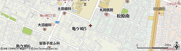 山形県酒田市松原南14-22周辺の地図