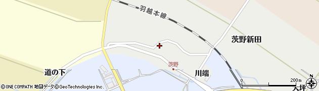 山形県酒田市茨野新田周辺の地図