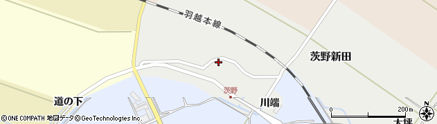 山形県酒田市茨野新田16周辺の地図