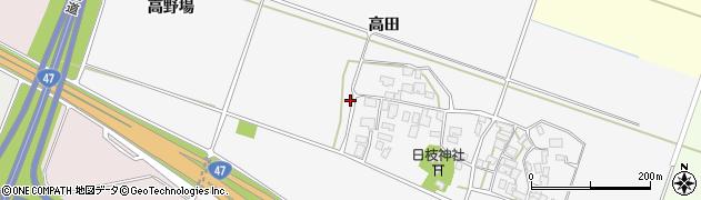 山形県酒田市大野新田村南158周辺の地図