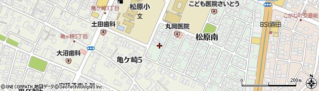 山形県酒田市松原南14-18周辺の地図