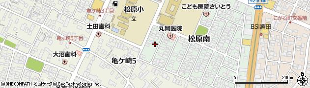 山形県酒田市松原南14-16周辺の地図