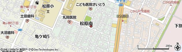 山形県酒田市松原南10-9周辺の地図