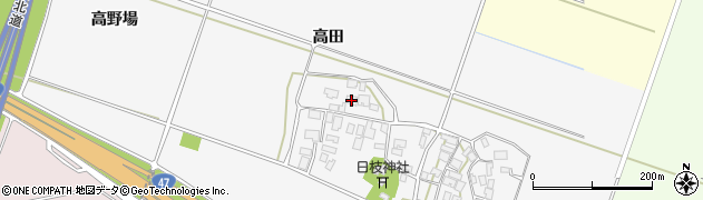山形県酒田市大野新田高田10周辺の地図