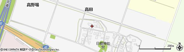 山形県酒田市大野新田高田11周辺の地図