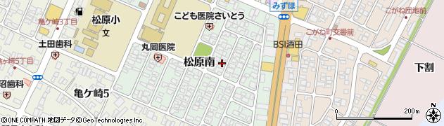 山形県酒田市松原南10-7周辺の地図