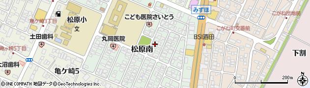 山形県酒田市松原南10-16周辺の地図