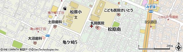 山形県酒田市松原南14-7周辺の地図