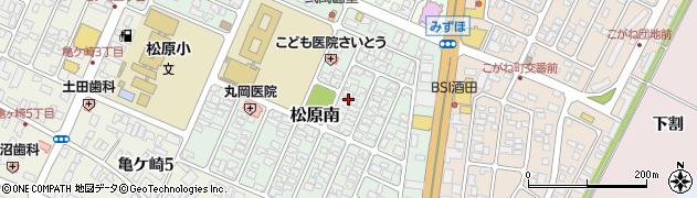 山形県酒田市松原南10周辺の地図