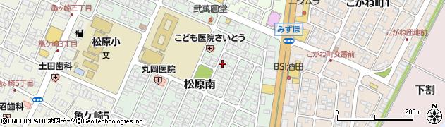 山形県酒田市松原南10-13周辺の地図