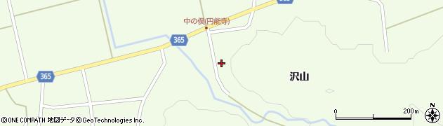 山形県酒田市中野俣沢山78周辺の地図