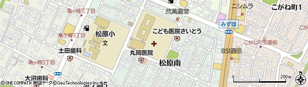 山形県酒田市松原南13周辺の地図