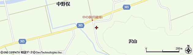 山形県酒田市中野俣沢山77周辺の地図